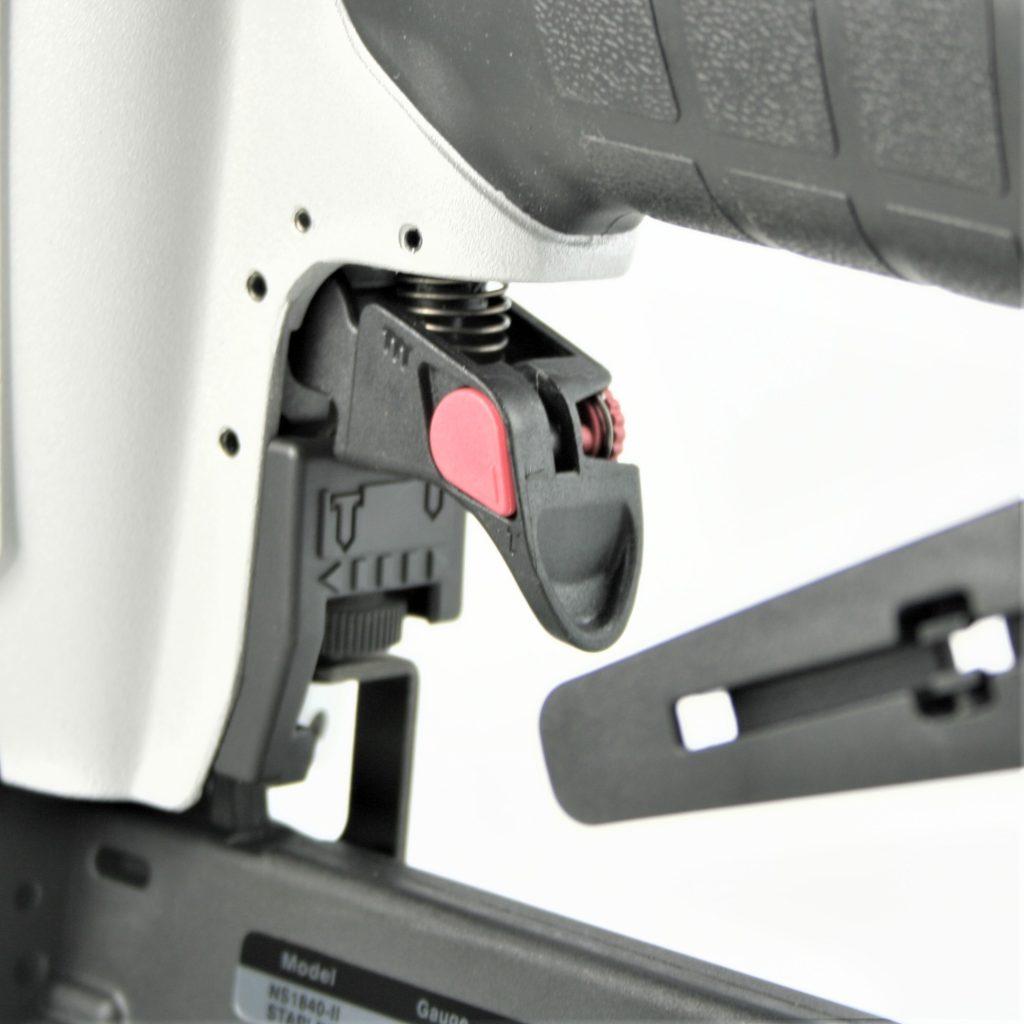 Tough, durable 18 gauge narrow crown staple gun