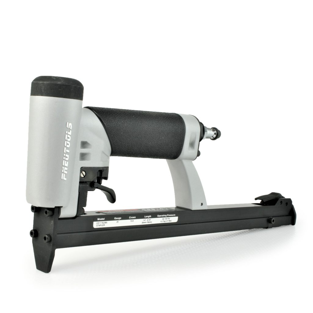 Tough, durable industrial automatic upholstery stapler